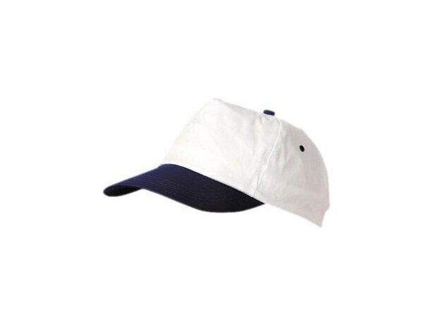 Gorra basica de poliester algodón com visera de color con logo negra