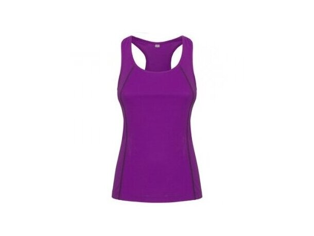 Camiseta técnica de correr de mujer lila