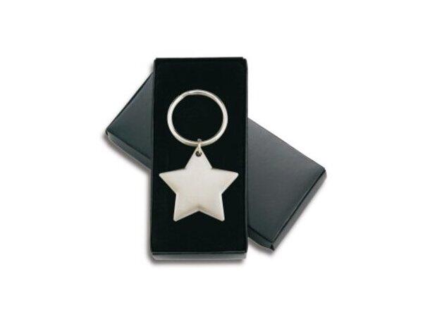 Llavero con forma de estrella de níquel personalizado