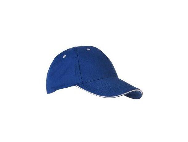 Gorra con visera sandwich en algodón personalizada azul