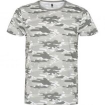 Camiseta unisex manga corta camuflaje personalizada gris claro