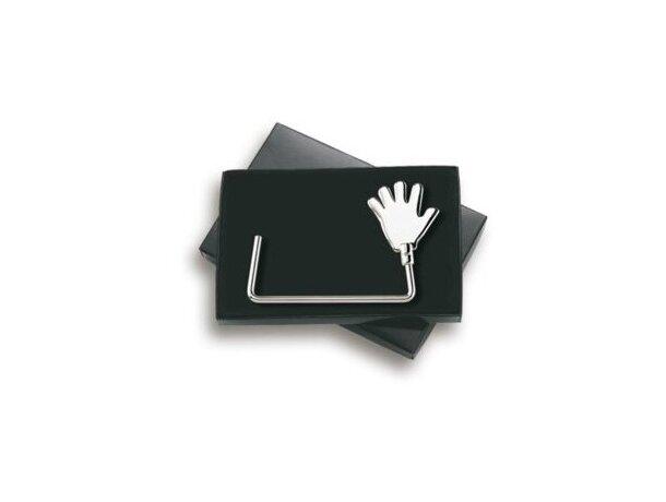 Cuelgabolsos con detalle de mano personalizada