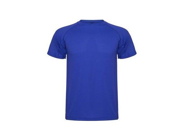 Camiseta técnica manga corta unisex 135 gr personalizada azul