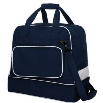 Bolsa deportiva con bolsillo para zapatillas personalizada azul