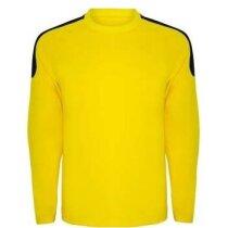 Camiseta de portero manga larga personalizada amarilla