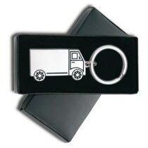 Llavero con forma de camión de níquel pulido personalizado