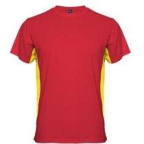 Camiseta técnica unisex colores de la Bandera personalizada amarilla