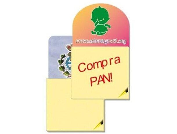 Imán de nevera flexible con bloc de 33 hojas pequeño forma ovalada o cuadrada personalizado