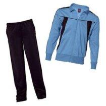 Chándal  de poliester chaqueta combinada personalizado azul