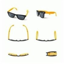 Gafas de sol de plástico plegables personalizada