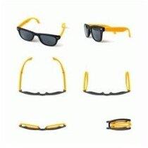 Gafas de sol de plástico plegables personalizado