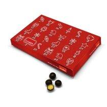 Calendario de Adviento con bolitas de chocolate personalizado
