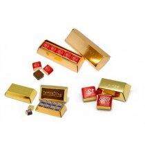 Lingote de chocolate 5 bombones personalizado