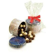 Bote cúpula relleno de grajeados de chocolate personalizada