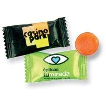 Caramelo sobre 280 colores surtidos con logo