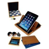 Porta tablet con atril de madera personalizado