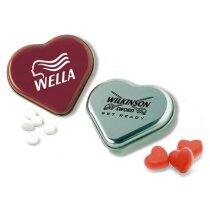 Lata corazón de caramelos personalizada
