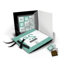 Postal de cartón con napolitanas de chocolate personalizada