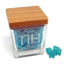 Caramelera cuadrada de cristal pequeña