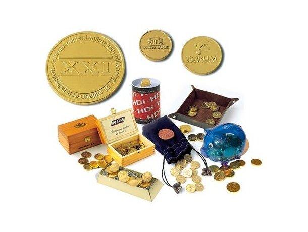 Moneda de chocolate personalizada