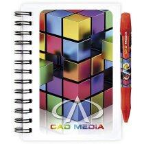 Libreta Bic® con tapas de plástico e impresión a todo color tamaño pequeño personalizada