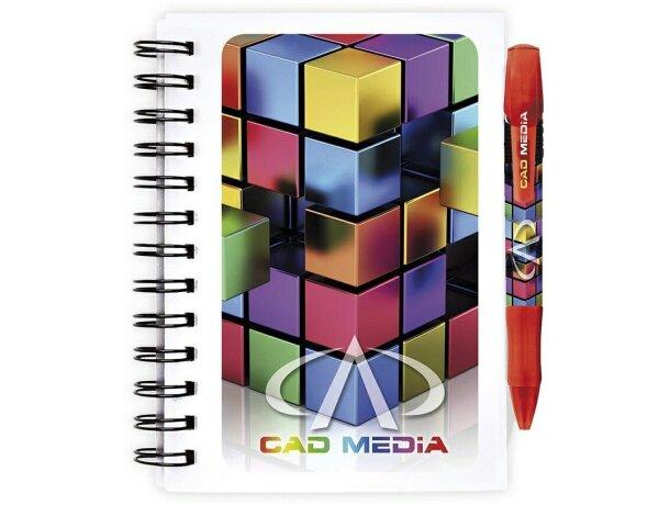 Libreta Bic® con tapas de plástico e impresión a todo color tamaño pequeño
