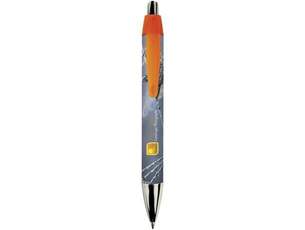 Bolígrafo mini con perfil ancho de la marca Bic personalizado negro