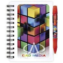 Libreta Bic® con tapas de plástico a todo color grande personalizada