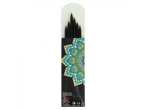 Estuche de 6 lápices de colores conté personalizado