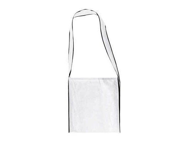 Bolsa bandolera con asa larga Valento barata blanca