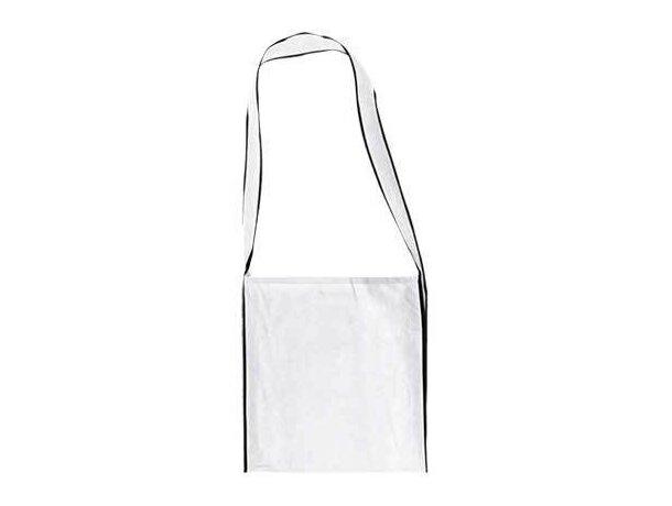 Bolsa bandolera con asa larga Valento blanca grabado