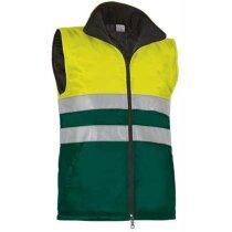 Chaleco de seguridad acolchado bicolor Valento personalizado