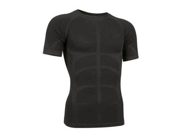 Camiseta adulto segunda piel de manga corta Valento grabada negra
