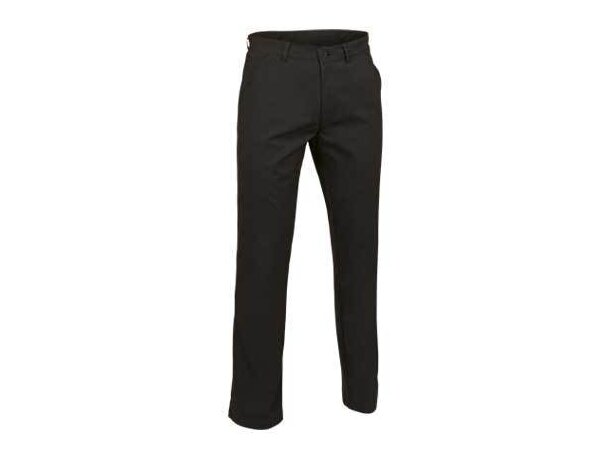 Pantalón clásico con bolsillos de estilo chino Valento personalizado negro