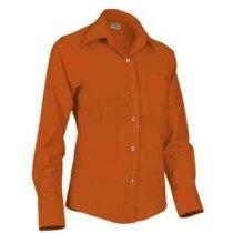 Camisa entallada de mujer manga larga Valento naranja