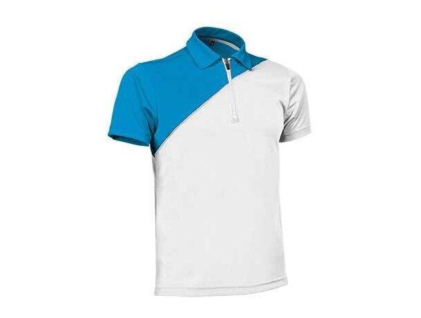 Polo manga corta técnico Ace de Valento 190 gr Valento personalizado blanco