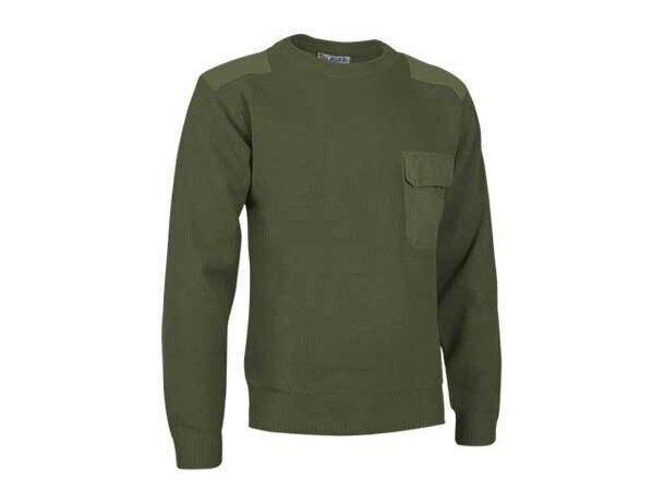 Jersey de cuello redondo Valento personalizado khaki