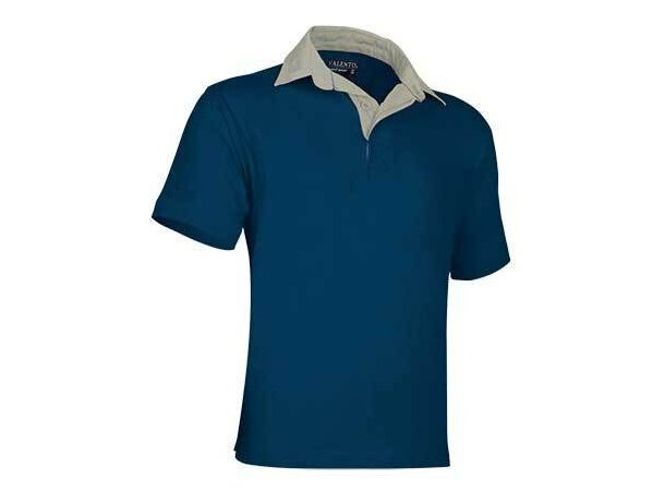 Polo manga corta tackle de Valento 220 gr Valento personalizado azul