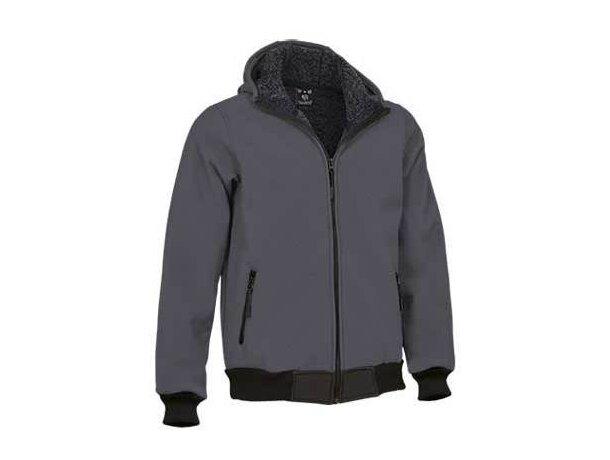 Chaqueta técnica con capucha de adulto Valento personalizada gris