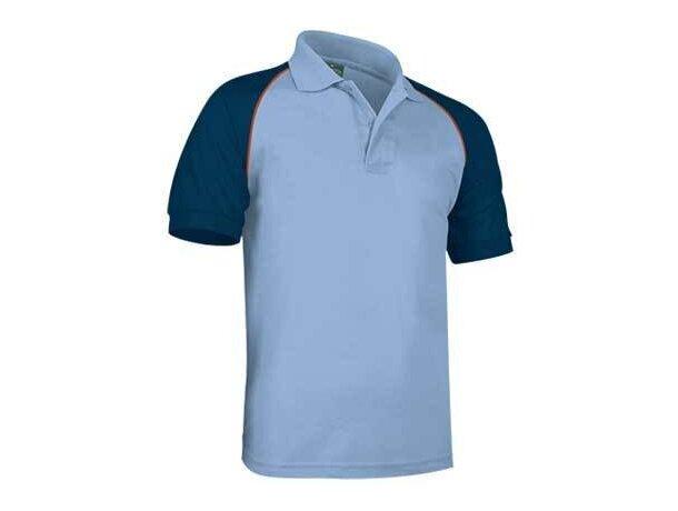Polo de manga corta combinado venur de Valento 220 gr Valento personalizado azul claro