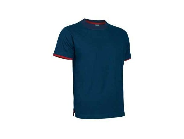 Camiseta manga corta detalles de color de Valento Valento azul