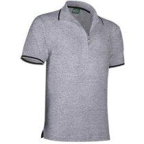 Polo de manga corta unisex de golf 220 gr Valento grabado gris