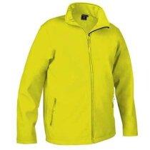 Chaqueta de poliester deportiva Valento grabada amarillo alta visibilidad