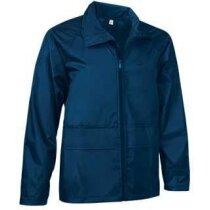 Chaqueta unisex con capucha de cuello alto Valento azul personalizada