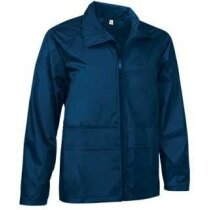 Chaqueta unisex con capucha de cuello alto Valento personalizada azul