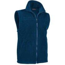 Chaleco polar con bolsillos Valento grabado azul