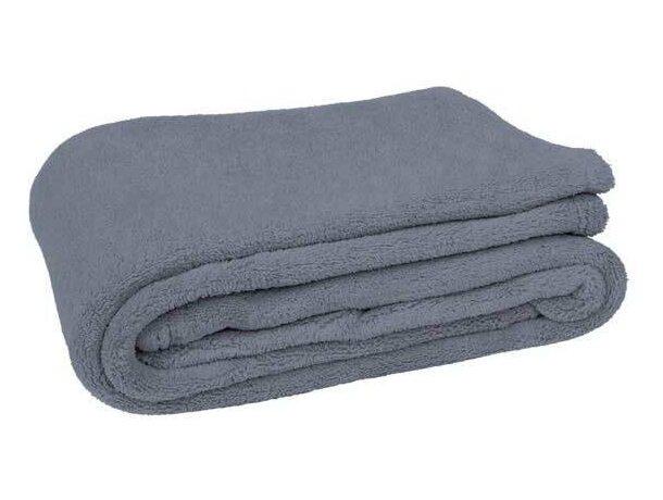 Manta tejido suave Valento personalizada gris