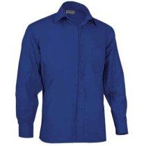 Camisa de hombre de trabajo con manga larga Valento azul royal