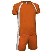 conjunto de fútbol camiseta mas pantalón colores surtidos Valento personalizado naranja