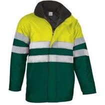 Abrigo bicolor acolchado con reflectante Valento grabada